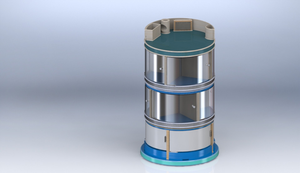 Rotating bookshelf | 3D CAD Model Library | GrabCAD