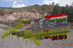 Plataform for Jaw Crusher