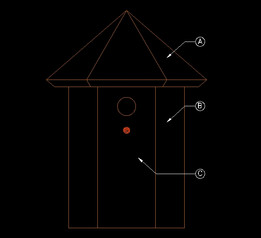Birdhouse for Wrens-Chickadees