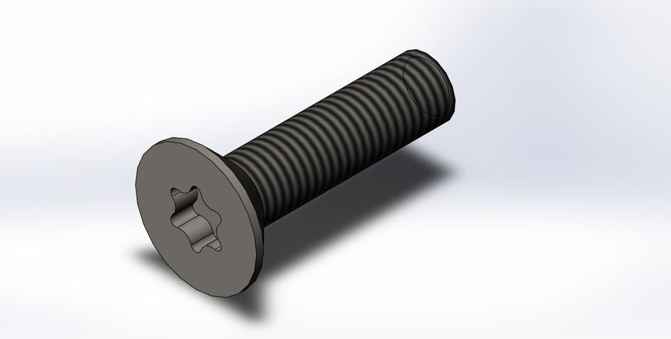 Autocad 3d bolt with threads tutorial   download 3d bolt dwg.
