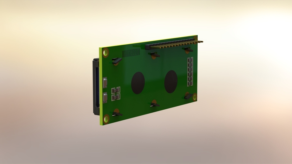 16 x 2 LCD display module | 3D CAD Model Library | GrabCAD