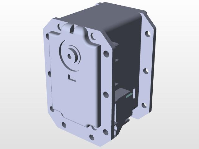 Dynamixel servo MX 28T | 3D CAD Model Library | GrabCAD