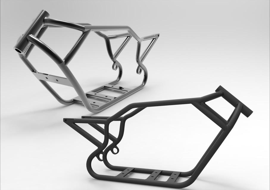 Harley Davidson V ROD Frame | 3D CAD Model Library | GrabCAD