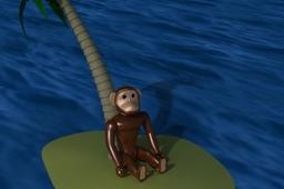 Plastic Toy Chimp