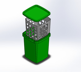 Plastic Container with Drainer