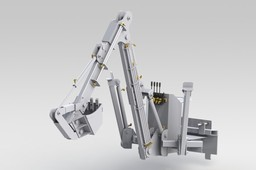 LTBackhoe with optimized stabilization foot