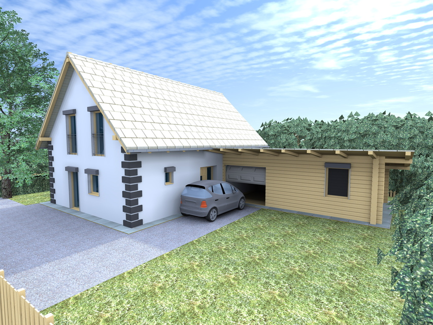Residential house 3d stock illustration. Illustration of drawing.