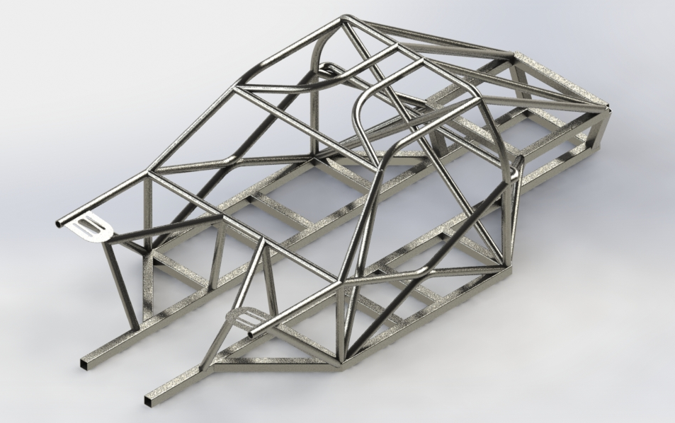 Space Frame Chassis | 3D CAD Model Library | GrabCAD