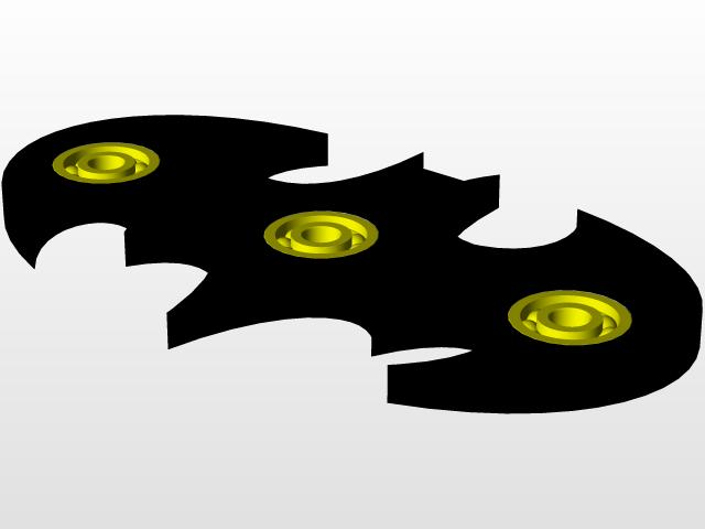 Batman Fidget Spinner 3d Cad Model Library Grabcad