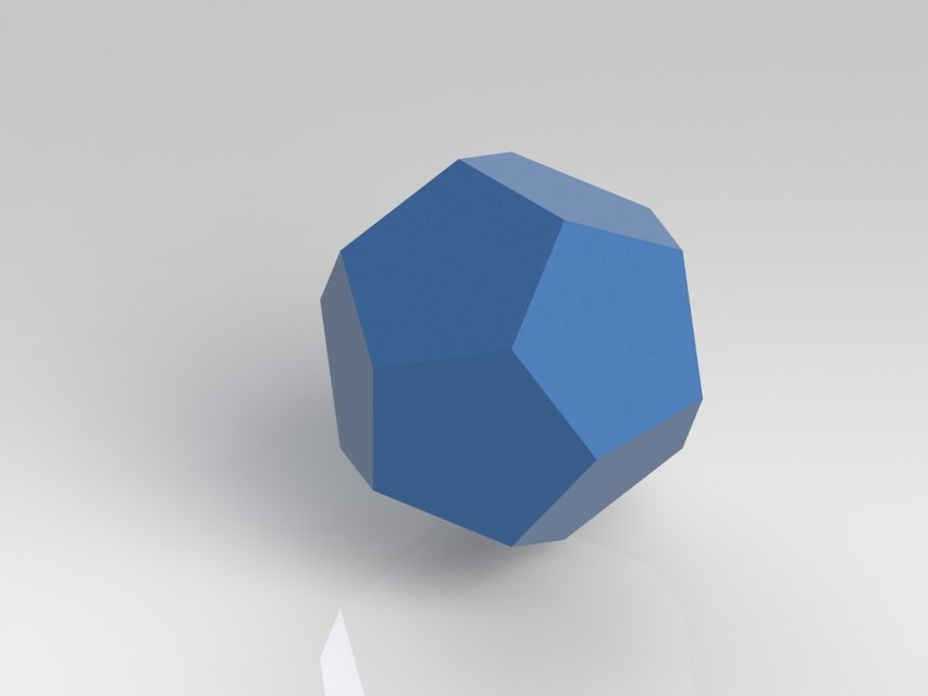 dodecahedron 3d cad model library grabcad