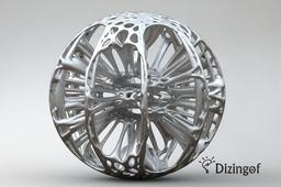 Plasma Sphere - Math Art by @Dizingof