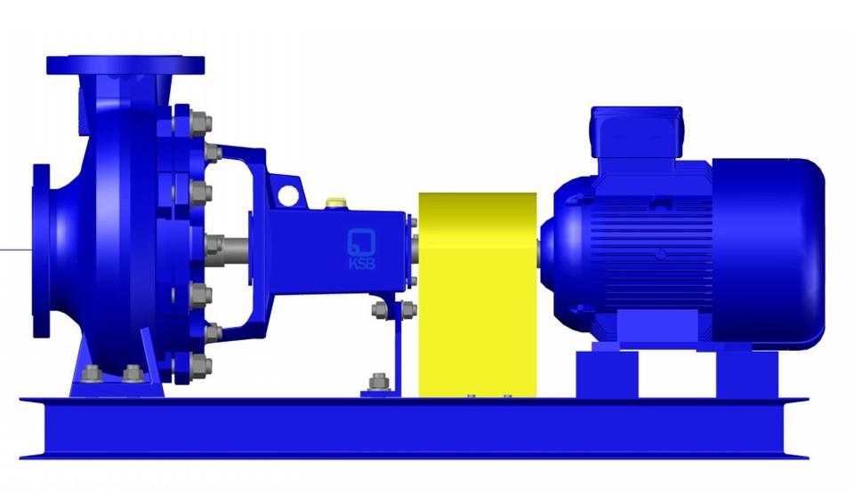 KSB CENTRIFUGAL PUMP 125-200   3D CAD Model Library   GrabCAD