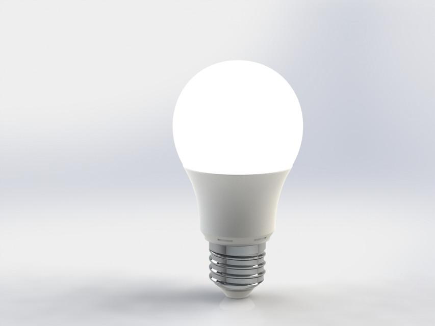 Led Bulb E27 400 Lumen 3d Cad Model Library Grabcad