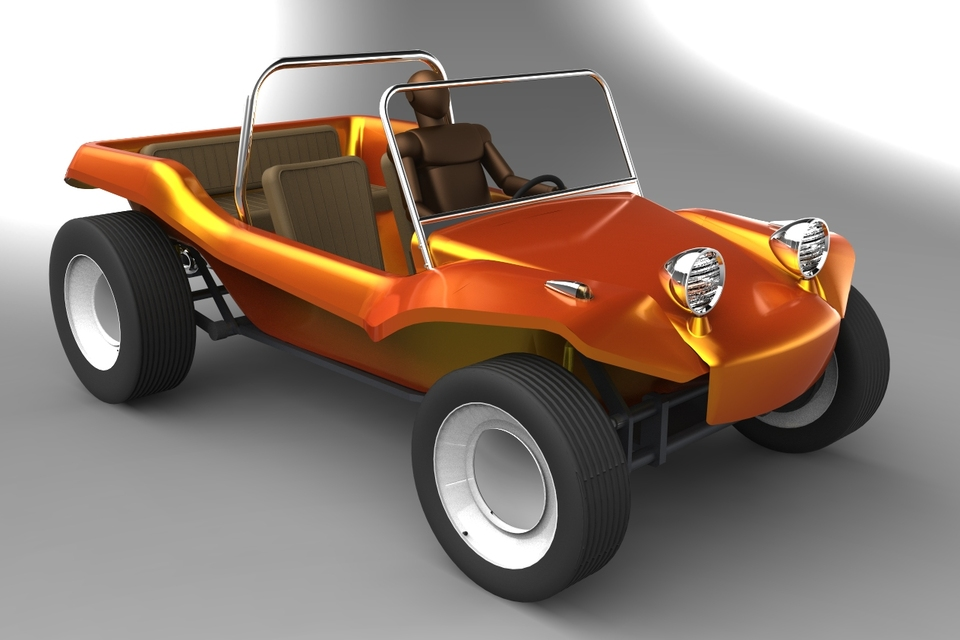 Meyers Manx Dune Buggy | 3D CAD Model Library | GrabCAD
