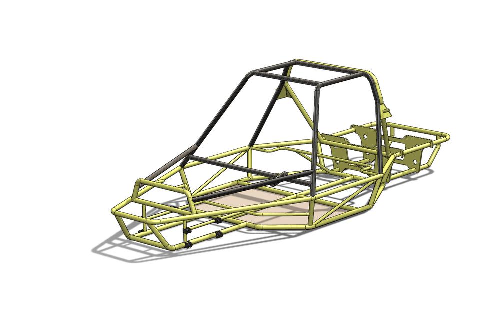 Dune Buggy Frame | 3D CAD Model Library | GrabCAD