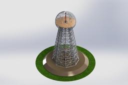Tesla Tower Wardenclyffe Tower, Sheetmetal puzzle, 3d puzzle, metalcraftdesign