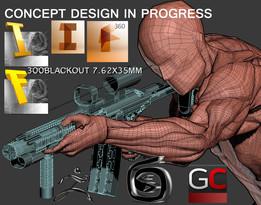 concept design custom 300 blackout blk aac 7.62x35mm braz in progress