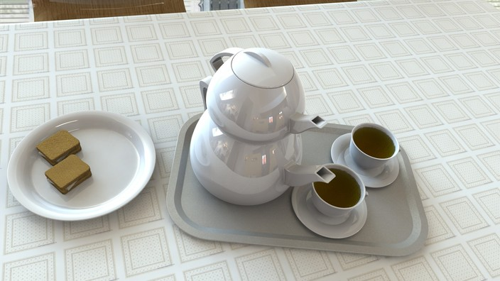 teapot & breakfast