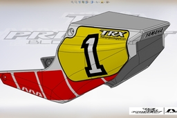 Yamaha TRX 850  fiberglass race tail.