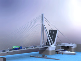 "Cable-stayed bridge ""The Swan"""
