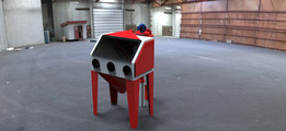 Sandblasting Cabinet and Dust Filtration cyclone System