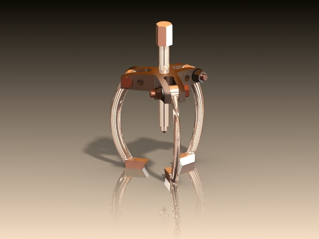 Bearing Puller Cad : Bearing puller other solidworks stl d cad model
