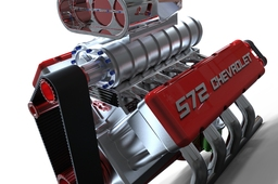 Keyshot Rendering Chevy V8 Engine