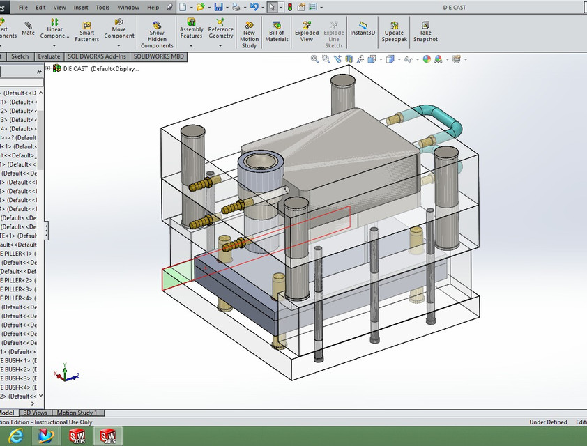 Die Casting Die | 3D CAD Model Library | GrabCAD