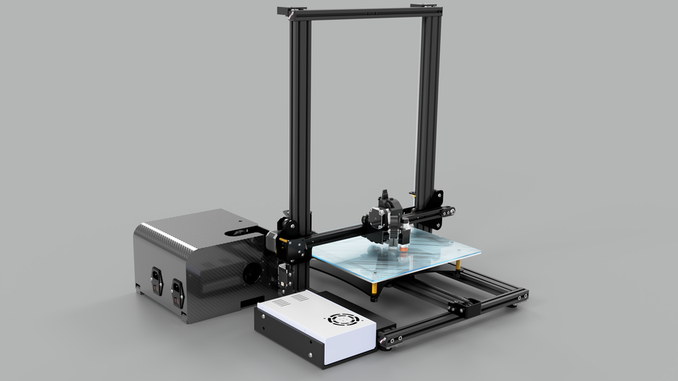Modified Creality CR-10S (S3 Model) 3D Printer Assembly | 3D