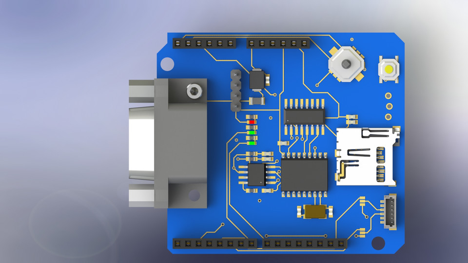 Arduino CAN BUS shield | 3D CAD Model Library | GrabCAD