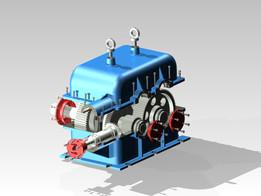 3-speed reducer (Inventor 2015)