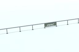 "40 foot long rail 14"" high"