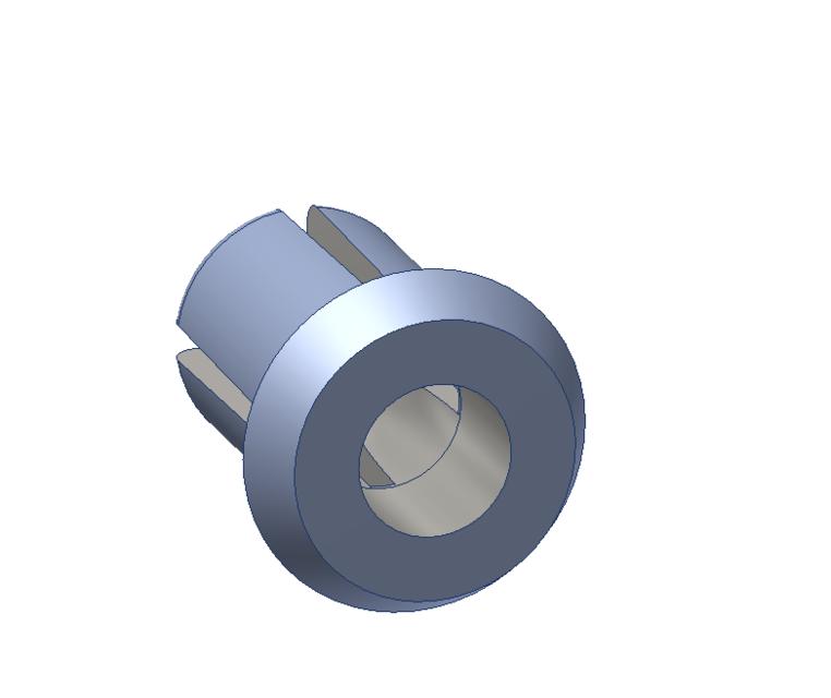 step in plastic plastic rivet step iges 3d cad model grabcad