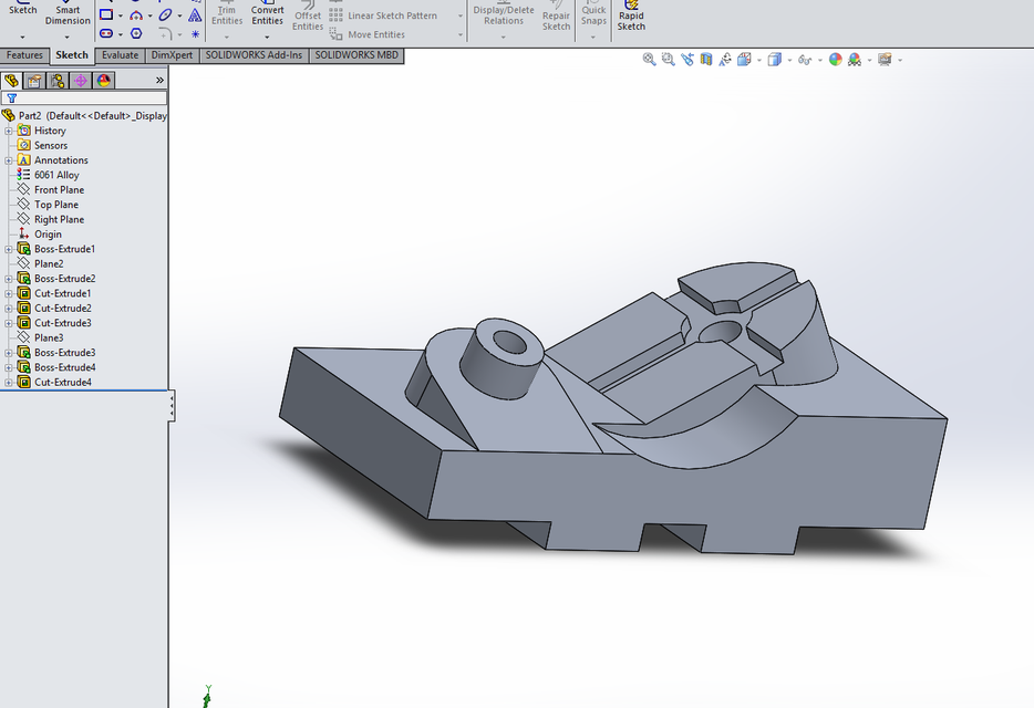 Solidworks tutorial for beginners exercise 30.