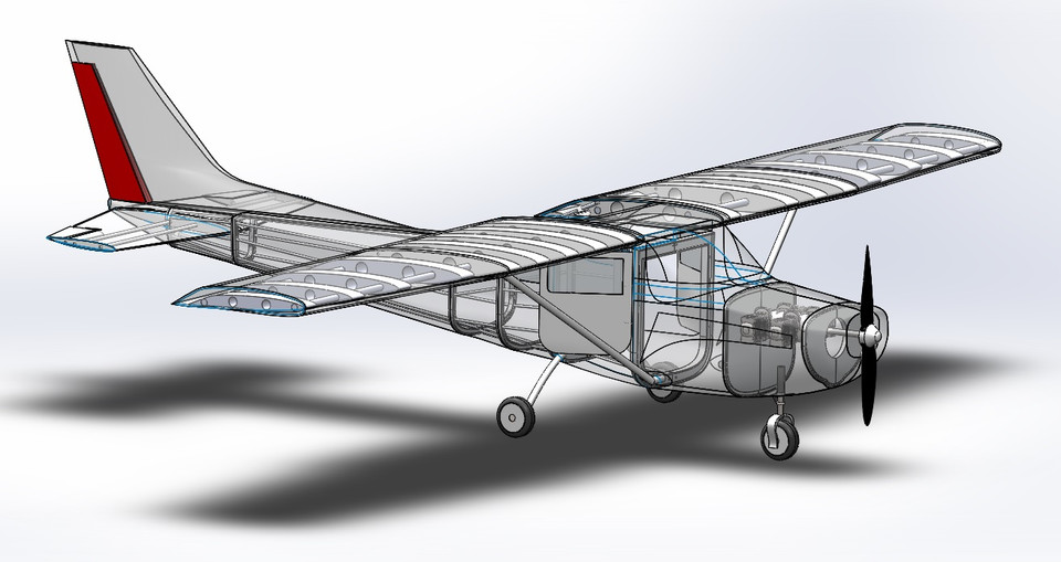 Cessna 172 Detailed Solidworks | 3D CAD Model Library