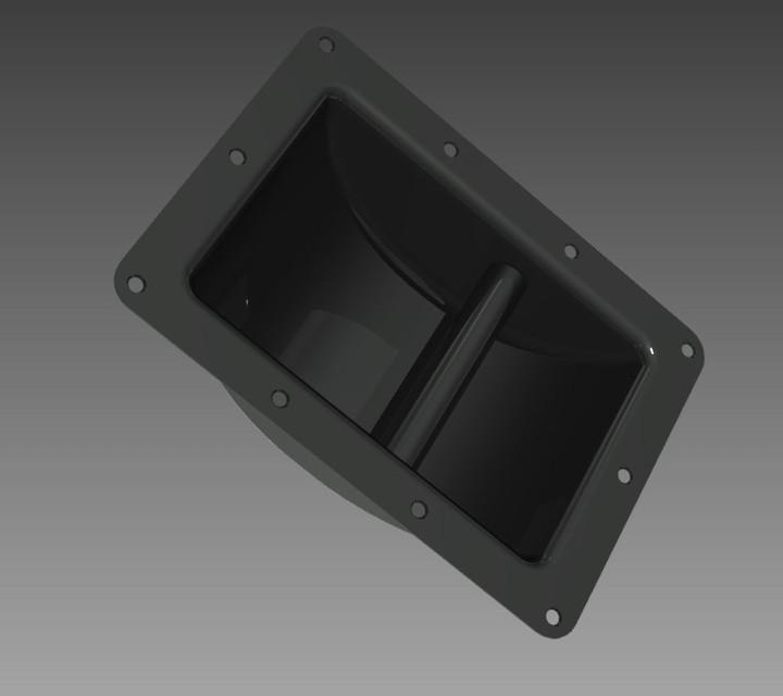 Recessed Speaker Cabinet Handle - STEP / IGES,Autodesk Inventor ...