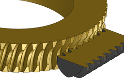 Worm Gear with ZI (involute) tooth profile