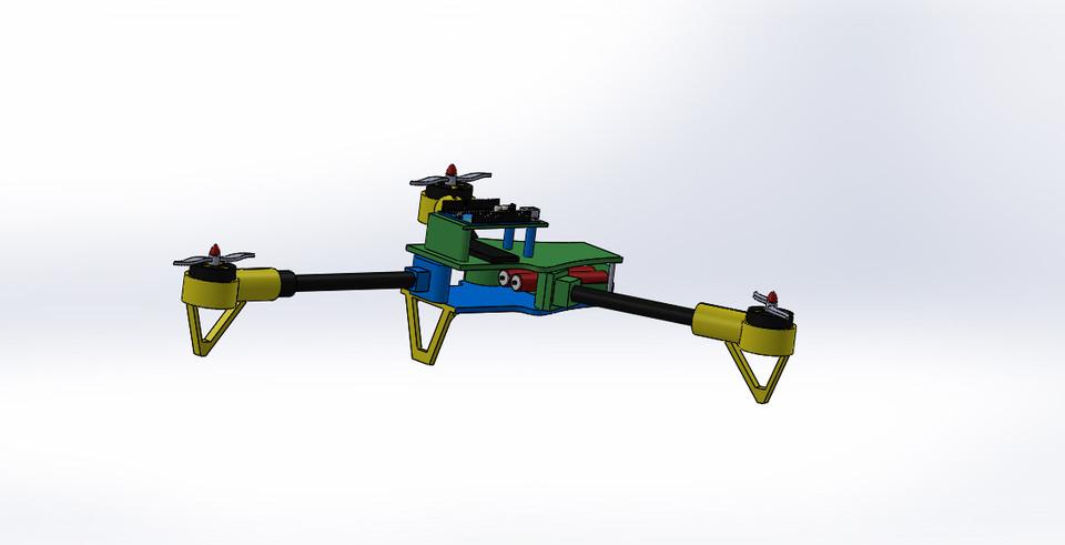 Drone( used arduino uno)   3D CAD Model Library   GrabCAD