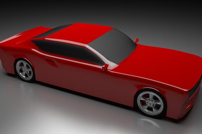 2014 Dodge Charger Concept - BlenderCAD - 3D CAD model - GrabCAD