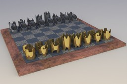 Cy Endfield Chess Set
