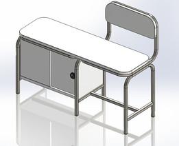 Operator Chair cum Bench with Locker