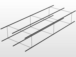 SEMELLE SYMÉTRIQUE DE FONDATION//traillie/fer a beton
