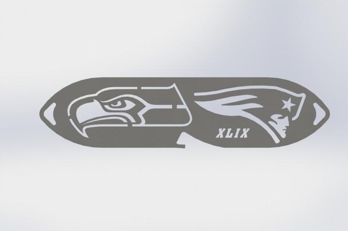 patriots keychain bottle opener superbowl xlix autocad solidworks 3d cad model grabcad. Black Bedroom Furniture Sets. Home Design Ideas