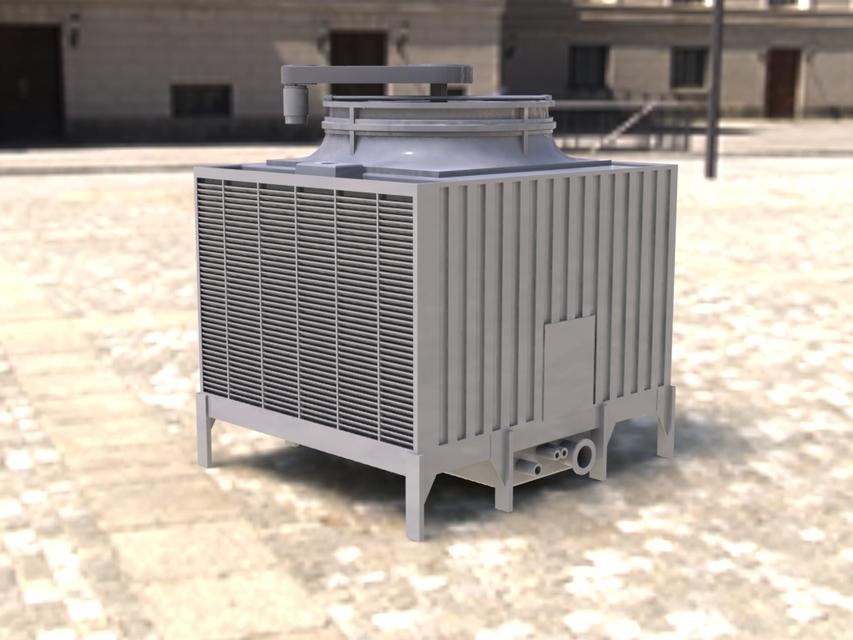 Amcot Lrc H 250 Cooling Tower 3d Cad Model Library Grabcad