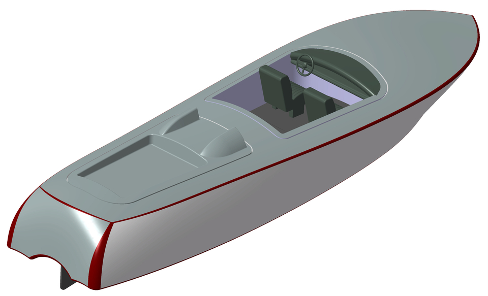 Speed boat | 3D CAD Model Library | GrabCAD