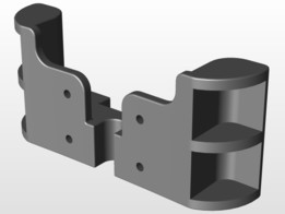 Internal boattail support bracket