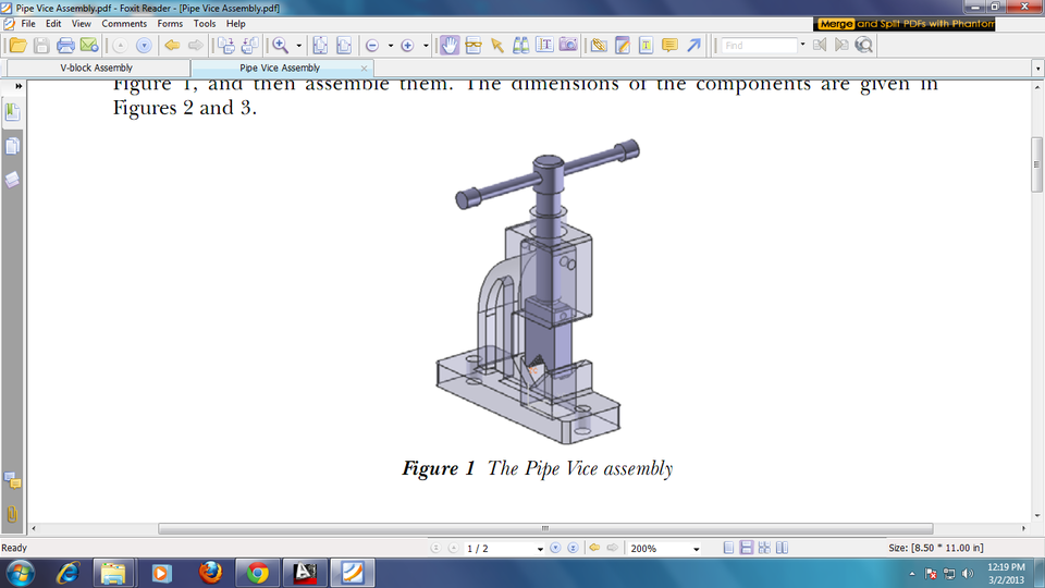 (PDF) PIPE VICE ASSEMBLY WITH DETAIL  | 3D CAD Model