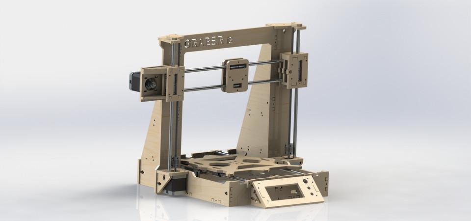 Graber i3 MDF frame | 3D CAD Model Library | GrabCAD