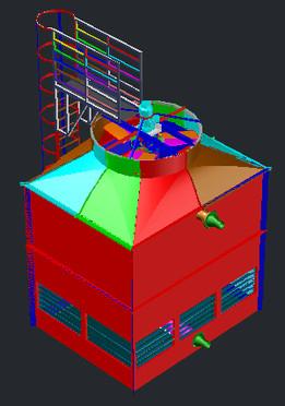 3D Torre de Resfriamento ALPINA 125-6 SGC II E