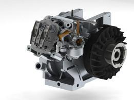1 cylinder 4 stroke engine (Briggs & Stratton)